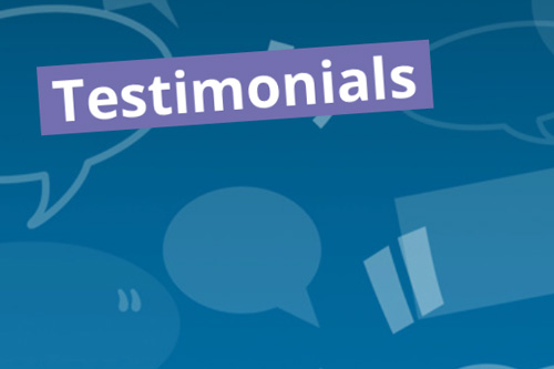 testimonials link