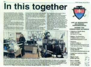 Mid Devon Advertiser article