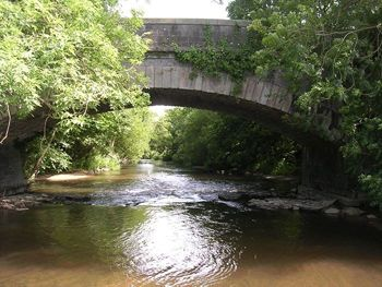 The swimming hole in the River Teign